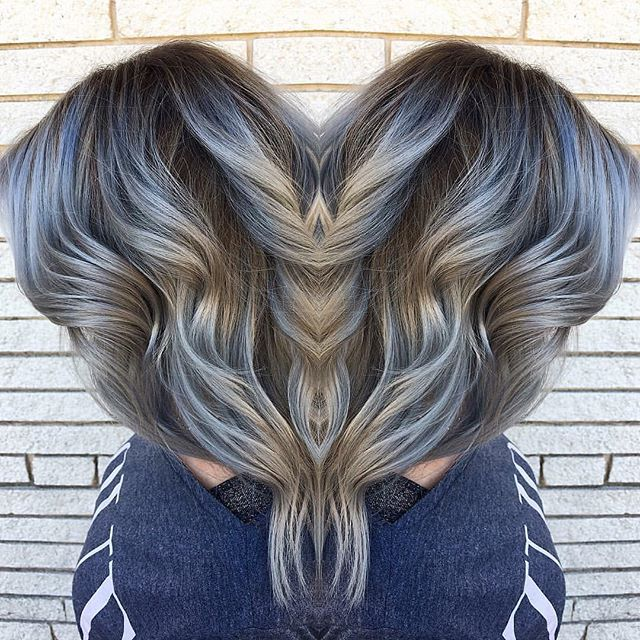 Silver hair don't care! We love!  By @mm_hof  #behindthechair #silverhair #balayage #springhilltn