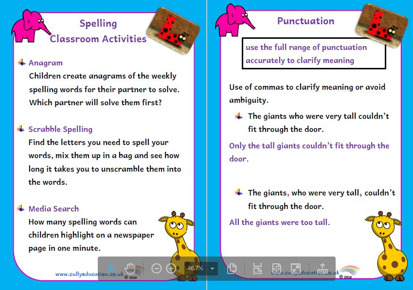 Grammar Packs for Parents and the Classroom