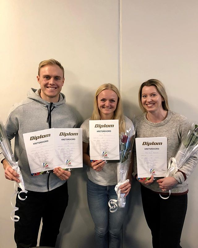 Hele tre av TF sine utøvere fikk i kveld utdelt diplom på kretstinget for sine kretsrekorder som ble satt i 2017 og 2018👏🏼🎉