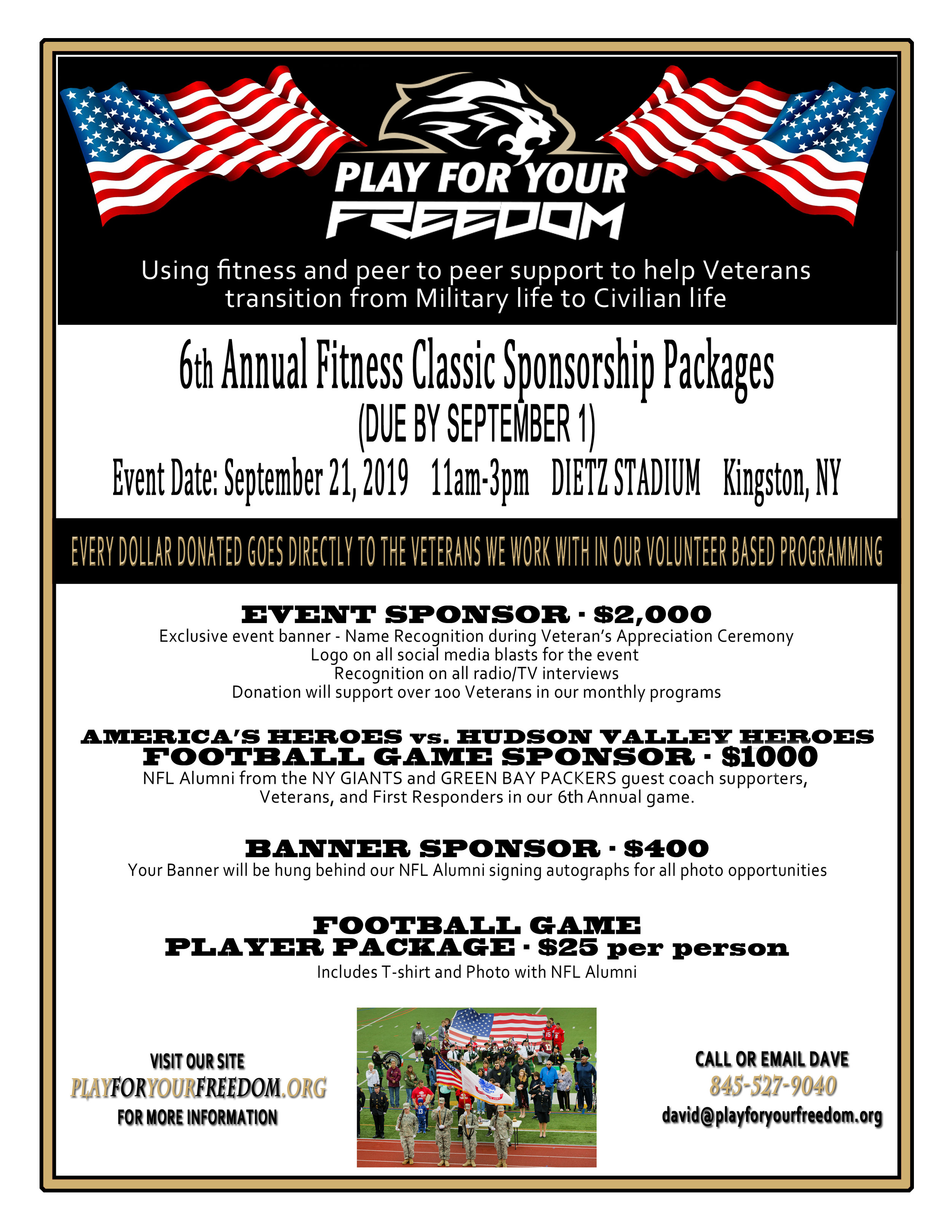 Annual Fitness Classic — Play For Your Freedom