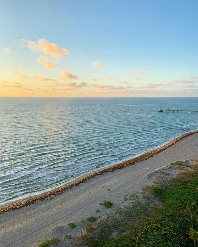 hard to believe this was already a week ago. 😎 will never get tired of watching the sunrise from this balcony. 🌴🌅🌴 #flashbackfriday #deerfieldbeach #floridasunrise #beachsunrise #deerfieldbeachfl