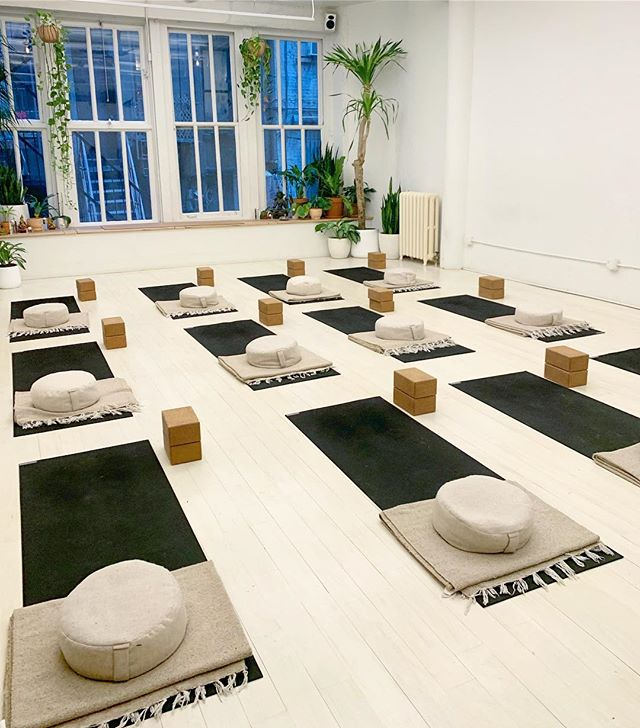think i could get used to a space like this. 🌱🌿🌿🌿🌱 @threejewelsnyc  #yogastudio #nycyoga #yoganyc #meditationspace #meditationstudio