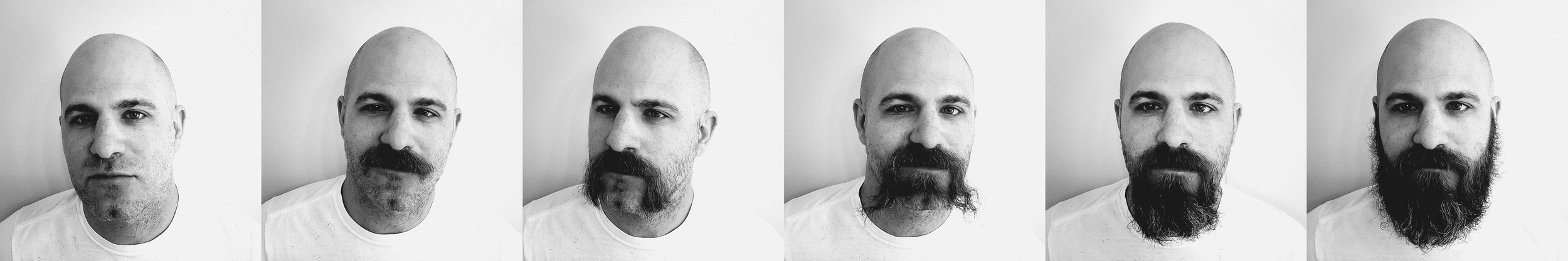 I grow facial hair quickly. It's probably genetic or something. I also change it up a lot. Use these photos to help you pick me out of a crowd.