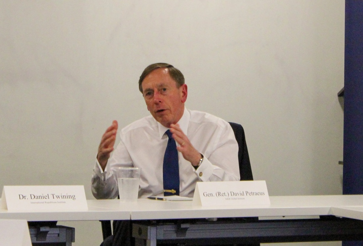 General (Ret.) David Petraeus lecturing on the Surge in Iraq
