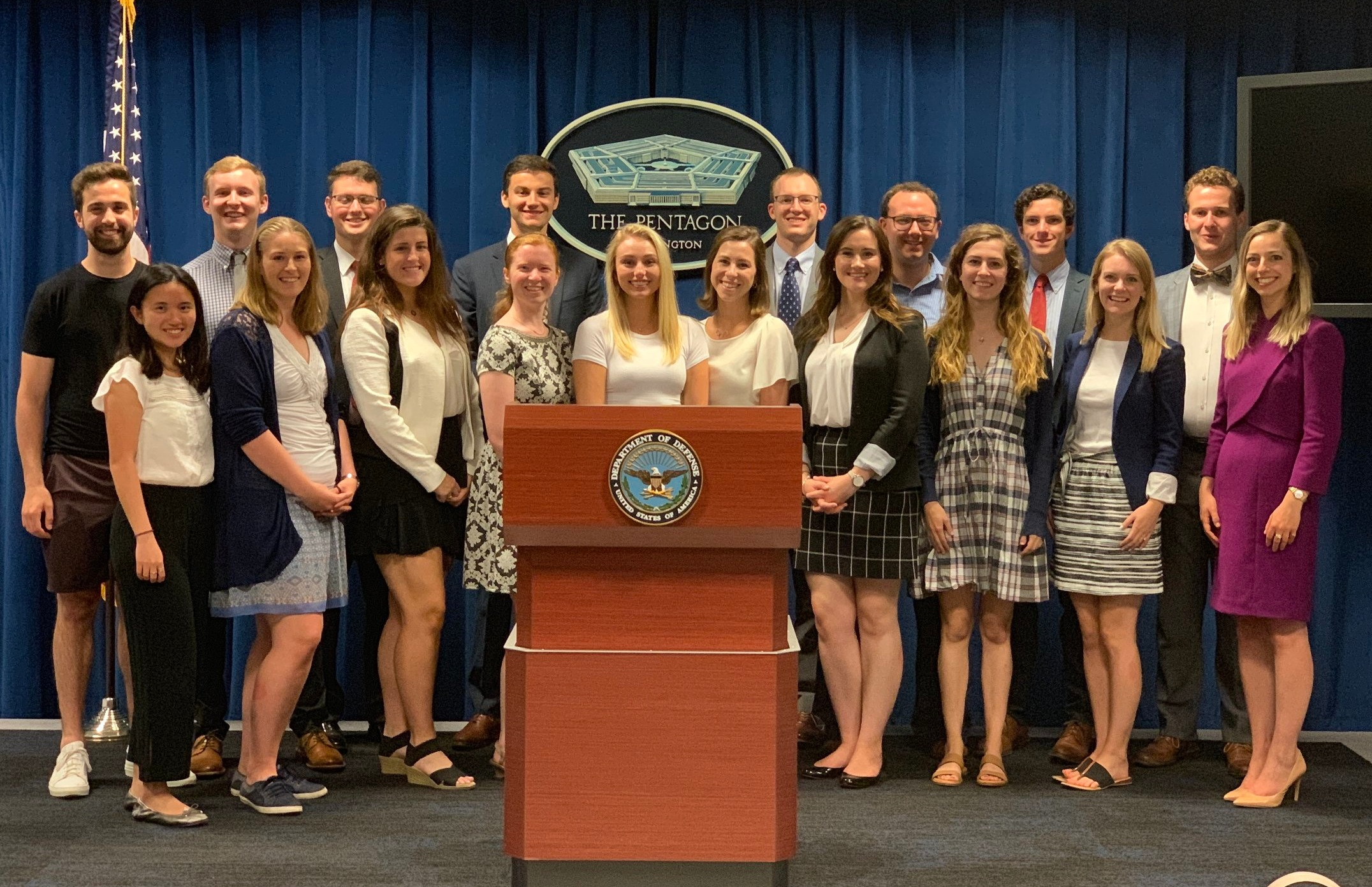 Chapter officers on a Pentagon tour led by AHS alumni
