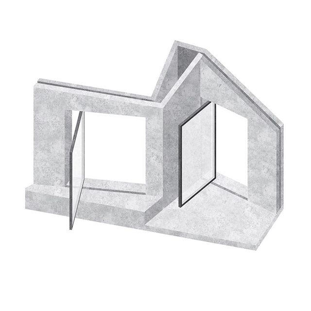 Sculptural concrete facade study for a recently completed project in Maryland. Pivot doors angled obliquely into the garden frame views from specific points internally . . . . #architecture #building #architexture #architect #city #urban #buildings #design #minimal #light #concrete #street #architecturelovers #architectureporn #abstract #lines #interiordesign #southbank #instagood #style #perspective #pattern #archidaily #london #vscocam #wanderlust #brutalist #shadow