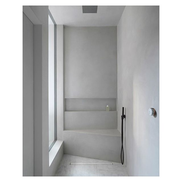 Shower-room inspiration: textured micro cement walls and marble floors. Fixtures by: @thewatermarkcollection Photography by:  @stale_eriksen  In collaboration with: @msophier  _ _ _ _ _ #architecture #architecturelovers #interiordesign #architekt #interior #architect #bathroom #apartmenttherapy  #property #interiorinspo #architecturephotography #photooftheday #dreamhome #interiordesigner #light #travel #instagood #minimalism #cornerofmyhome #simple #interiors #lines #architexture #decor #minimal #simplicity #minimalist #london #inspiration #texture
