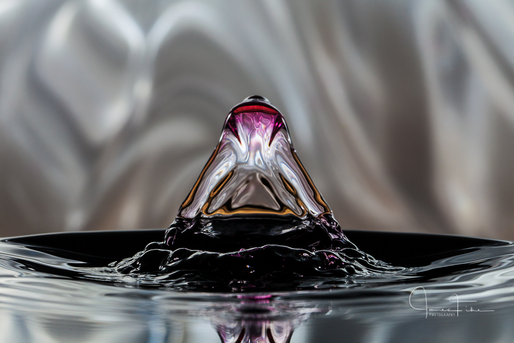 Water drop experimentation using stopshot studio. Taken July 2016 by James Fike Photography.