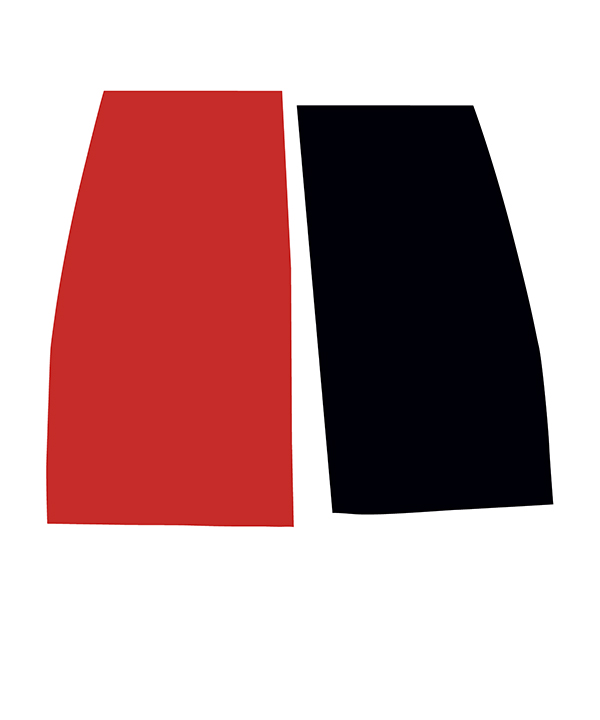 THIS MUCH RED EQUALS THIS MUCH BLACK