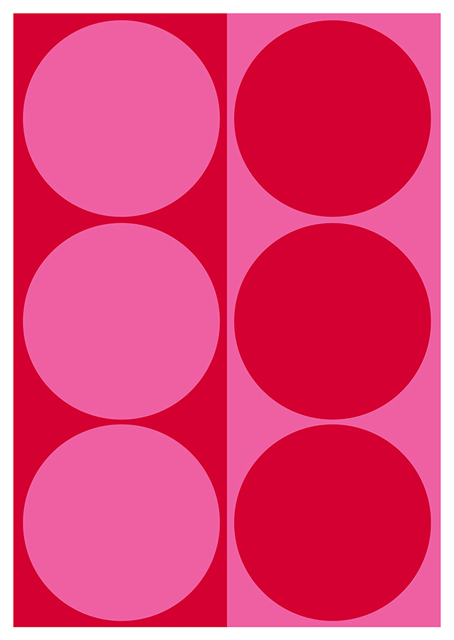 Dynamic Pair: Bright Pink and Red