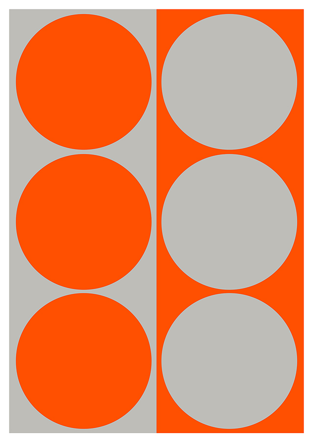 Dynamic Pair: Orange and Gray
