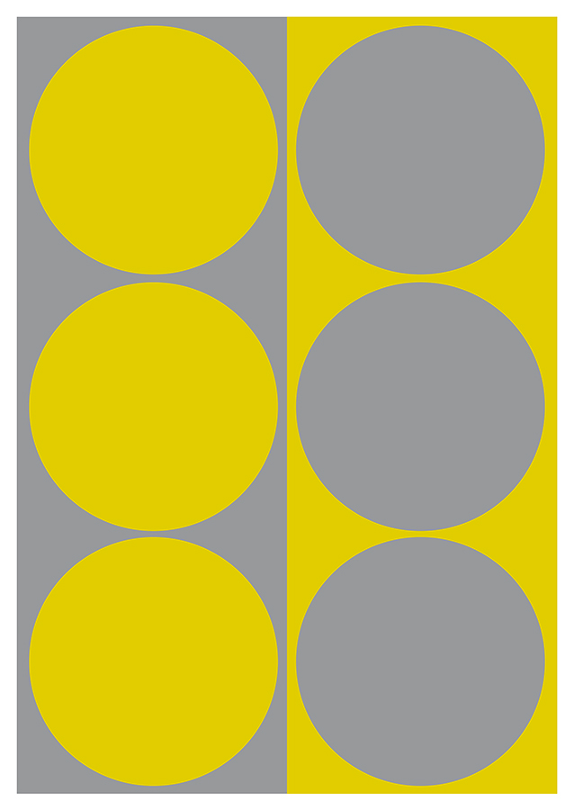Dynamic Pair: Yellow and Gray