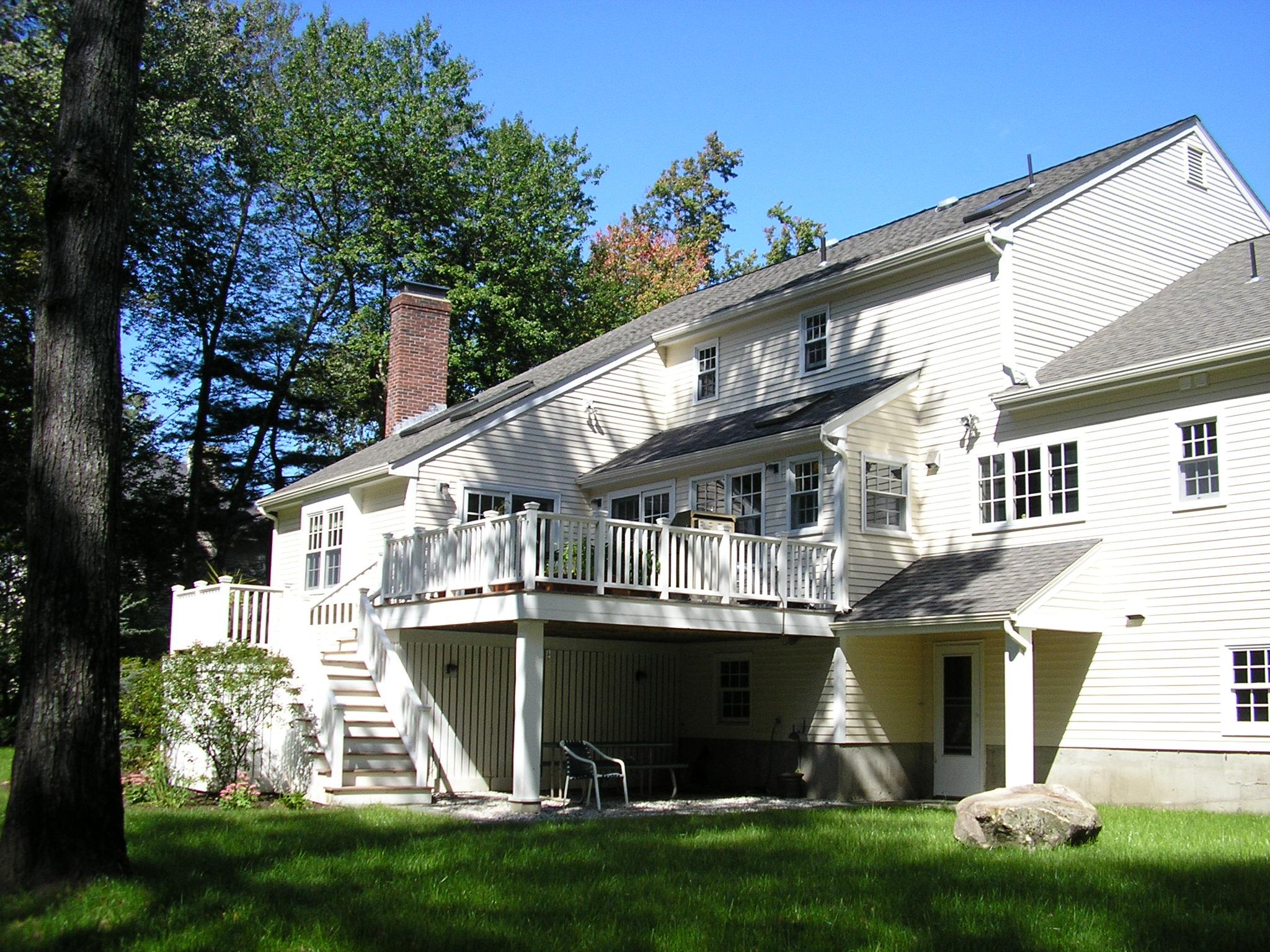 Home Renovation  | Dickinson Architects, LLC | Deck Mudroom Laundry Kitchen Livingroom