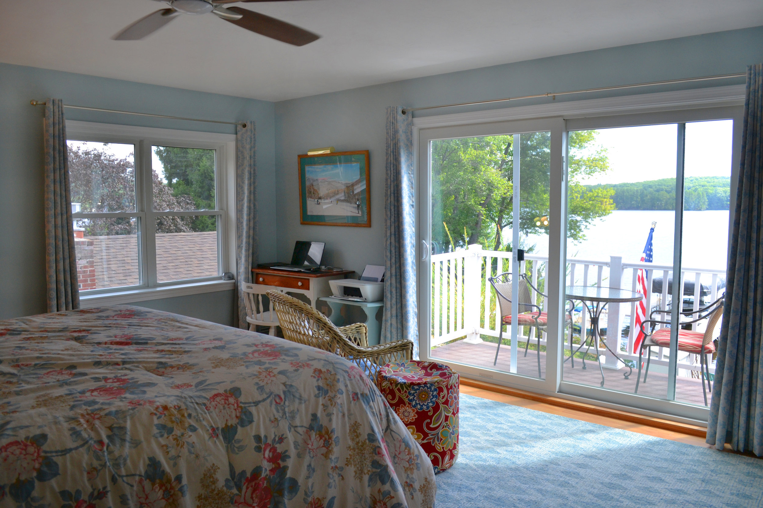 Masterbedroom Lake View | Dickionson Architects | Lunenburg Massachusetts