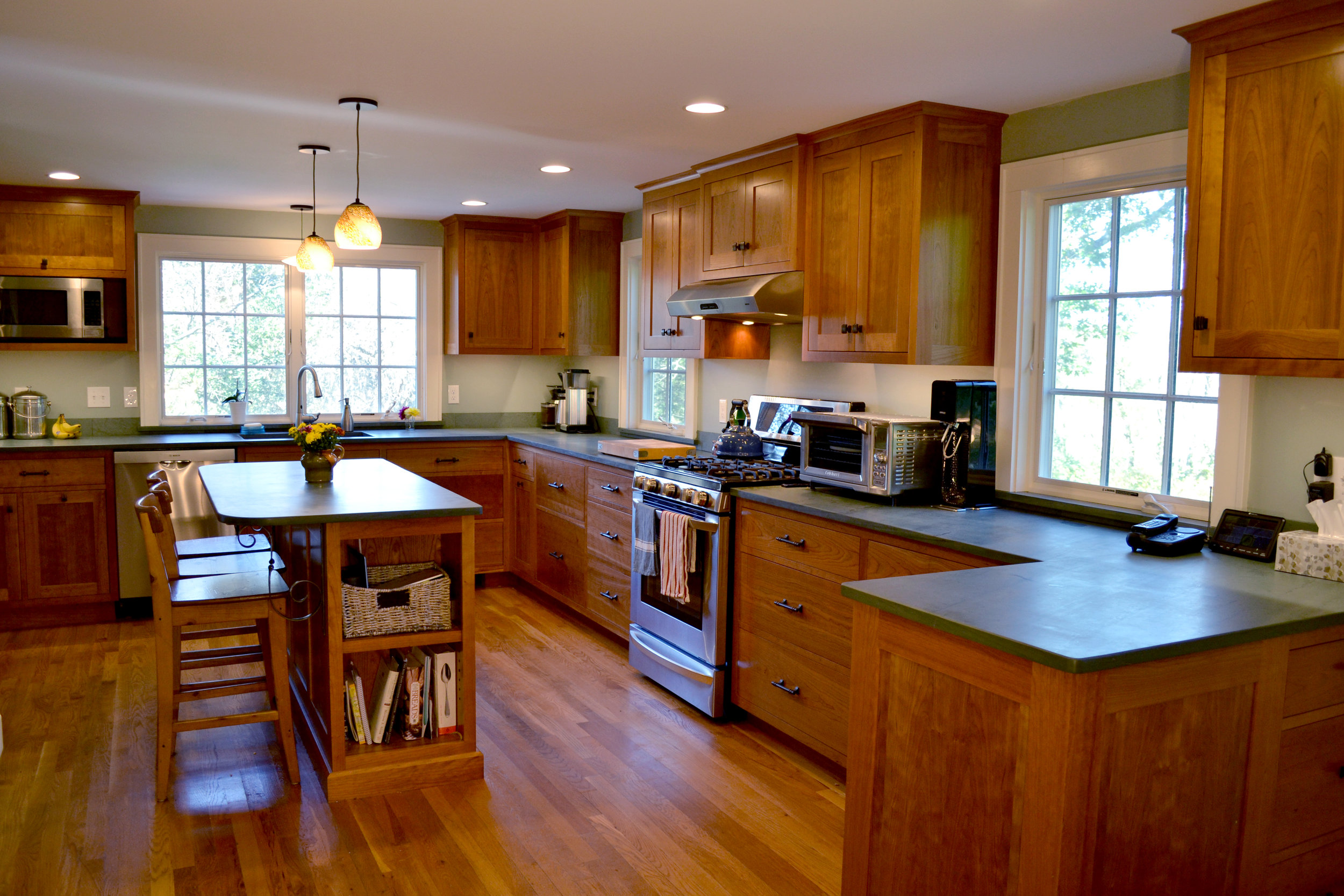 Kitchen Construction | Cherry Cabinets | Dickinson Architects | Acton Massachusetts