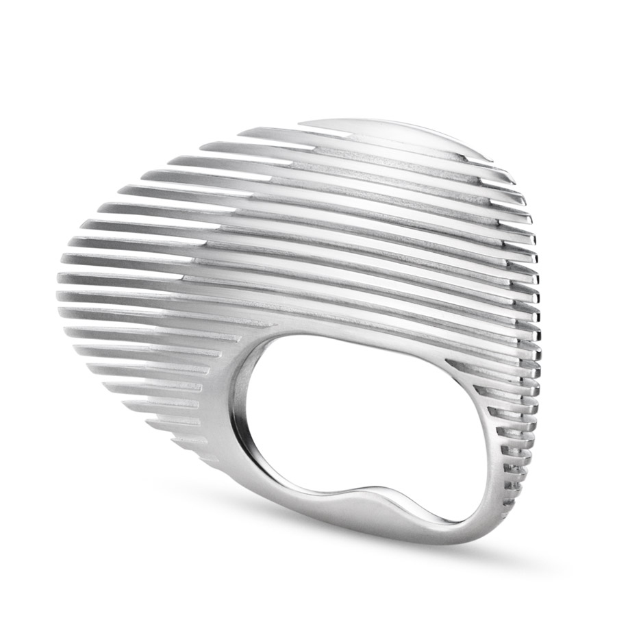 Double Ring Cuff for Georg Jensen by Zaha Hadid Design | Photo Credit: Christian Hogstedt