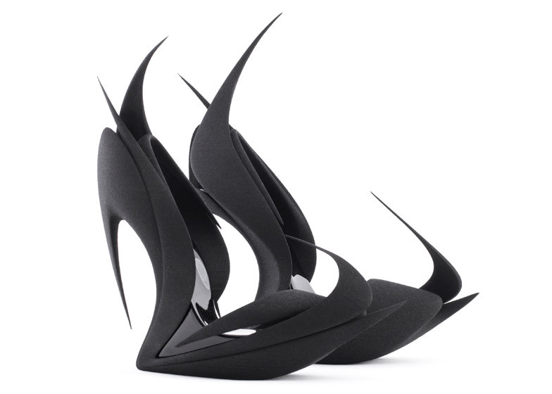 Flames 3D Printed Heels | Photo Credit: United Nude