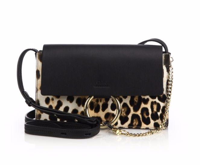 CHLOÉ - Faye Small Leopard-Print Calf Hair Shoulder Bag