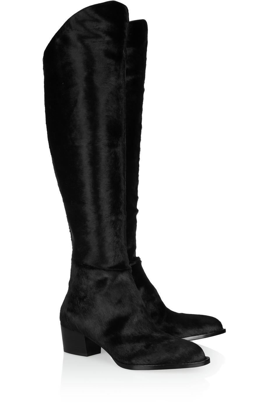 ALEXANDER WANG - Sigrid Calf Hair Knee Boots