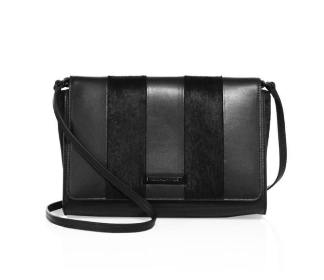 KENDALL + KYLIE - Bobino Leather & Calf Hair Crossbody Bag