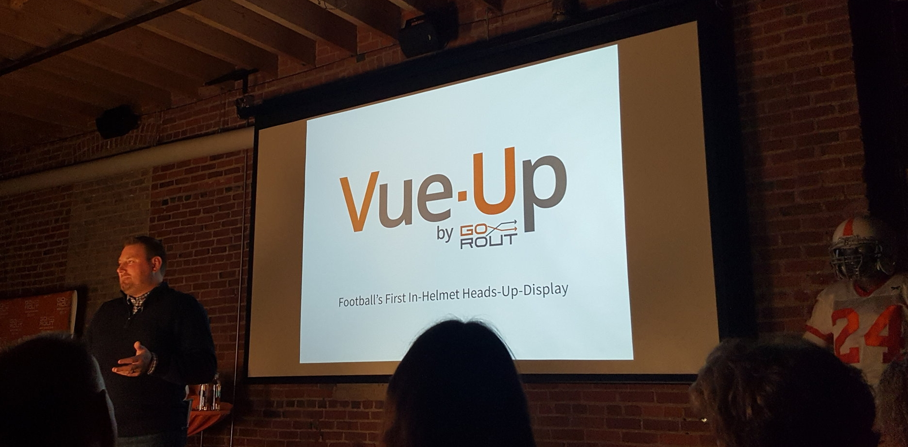 GoRout Founder Mike Rolih launching Vue-Up during Global Entrepreneurship Week.