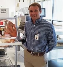 SciTechsperience intern and St. Cloud State University student Travis Meyer.