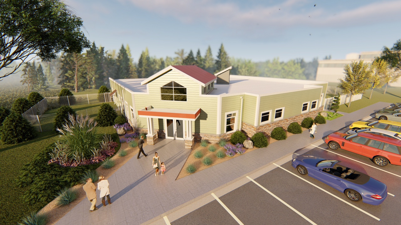 Rendering of the Sprouts Childcare & Early Education Center.