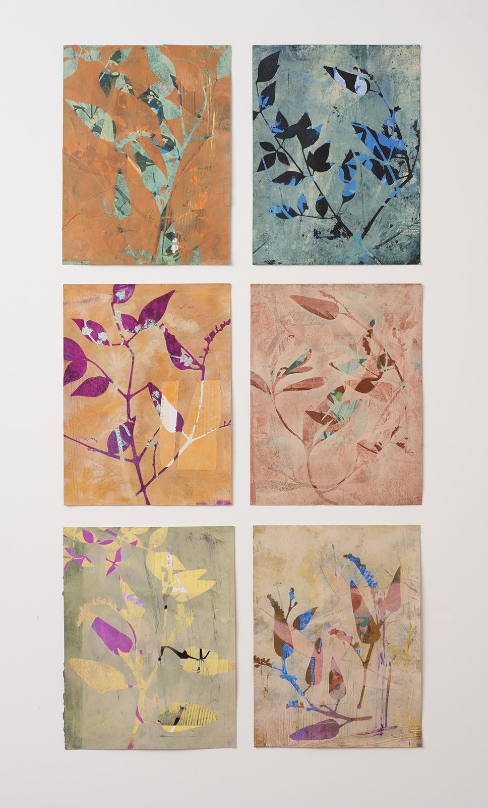 "Folia, 19″ x 38,"" Monoprint collage"