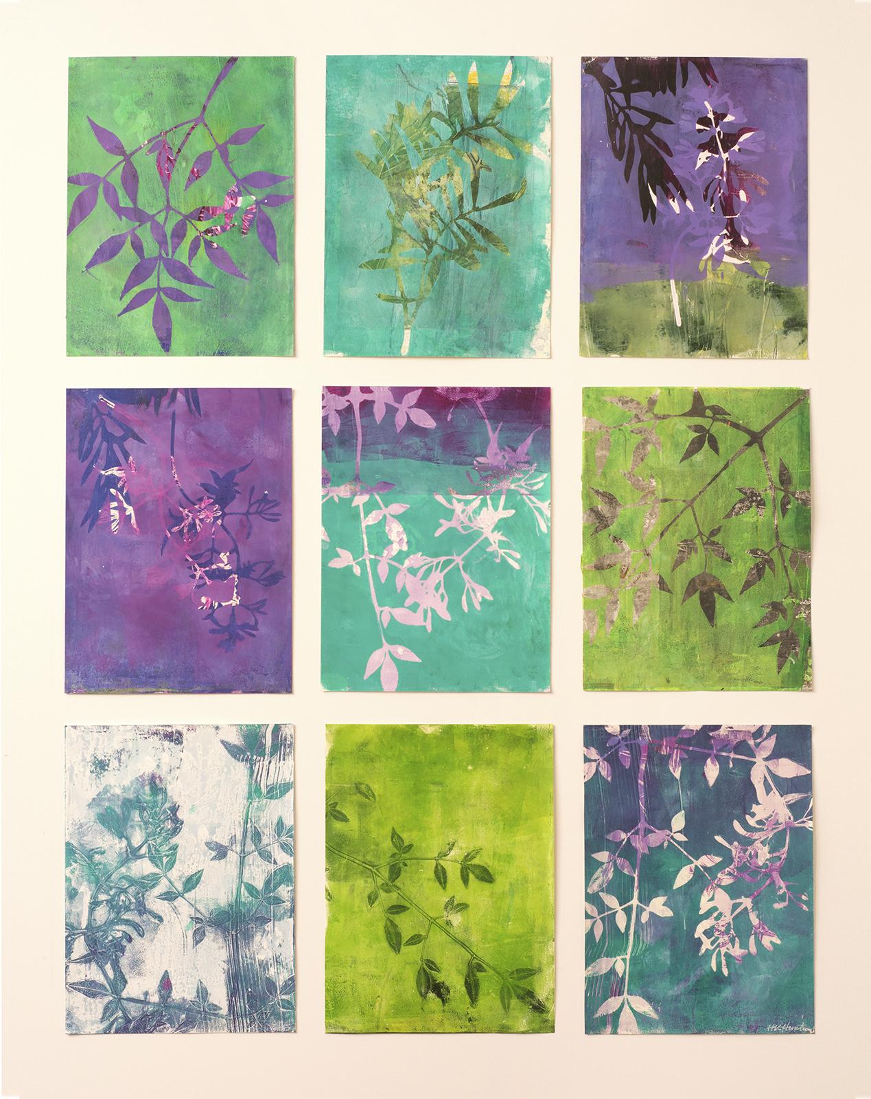 "Jasmine Shift, 29″ x 38,"" Monoprint"