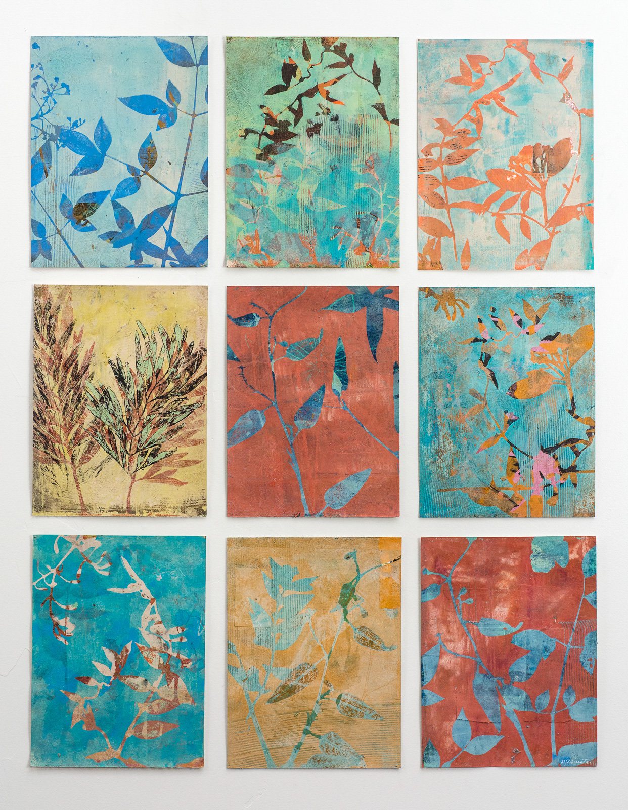 "Passage, 29″ x 38,"" Monoprint collage"
