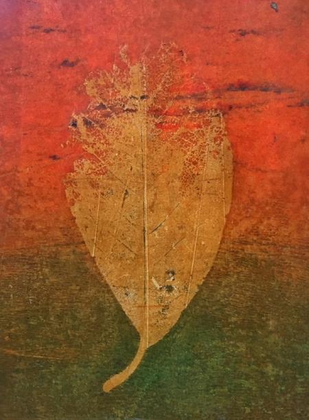 "Winter Magnolia, 2017, 8"" x 10,"" Monoprint"