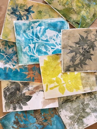 Eco prints and monoprints converging
