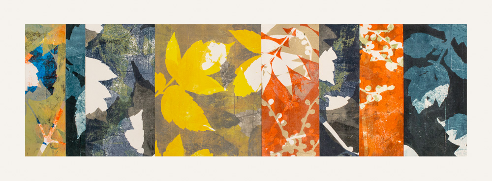 """Turning Point 4, 11"""" x 30,"""" Monoprint collage"""