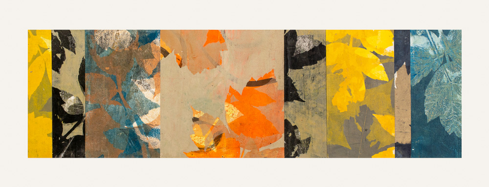 """Turning Point 3, 11.5"""" x 30,"""" Monoprint collage"""
