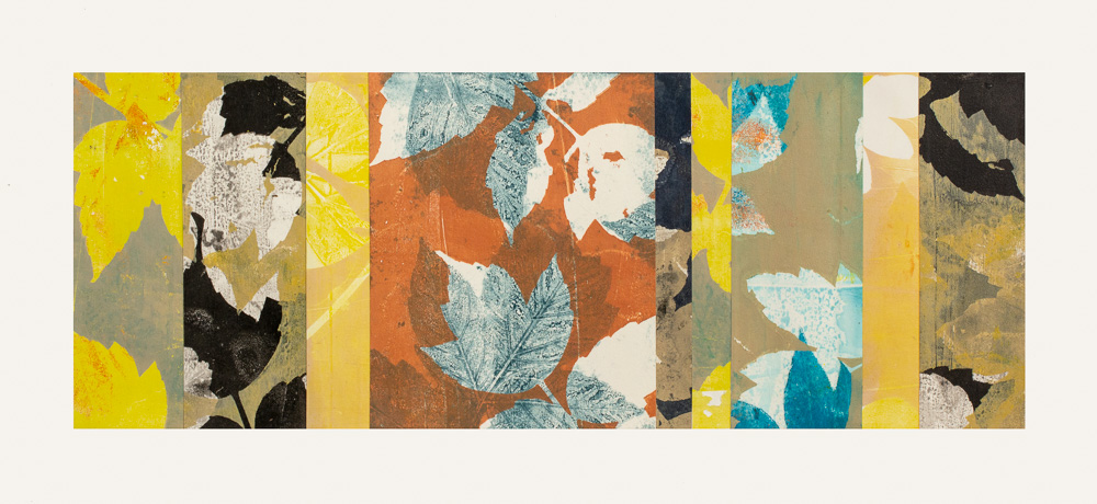 """Turning Point 1, 12"""" x 26,"""" Monoprint collage"""