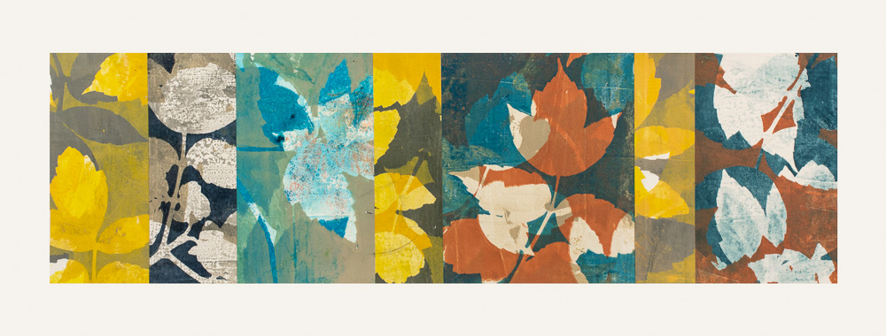 """Turning Point 2, 11.5"""" x 30,"""" Monoprint collage"""