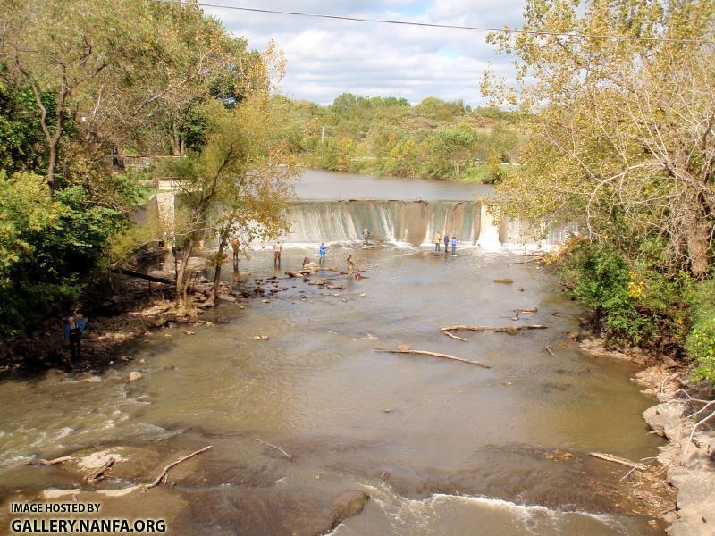 The Horlick Dam in Racine impedes fish passage and traps sediment loads upstream.