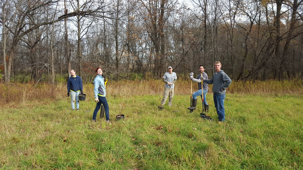 2015 - Root River Parkway Reforestation - first planting.jpg