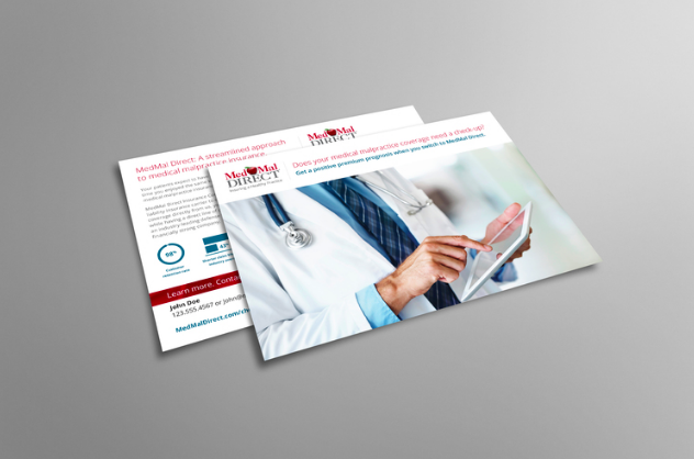 """ROLE: COPYWRITER    PROJECT COPY: """" Come Stand Under Our Umbrella of Coverage""""    Grabbing the attention of physicians inundated with direct mail requires a catchy headline coupled with outstanding design.   CLIENT:  MEDMAL DiIRECT     AGENCY:  WINGARD CREATIVE"""