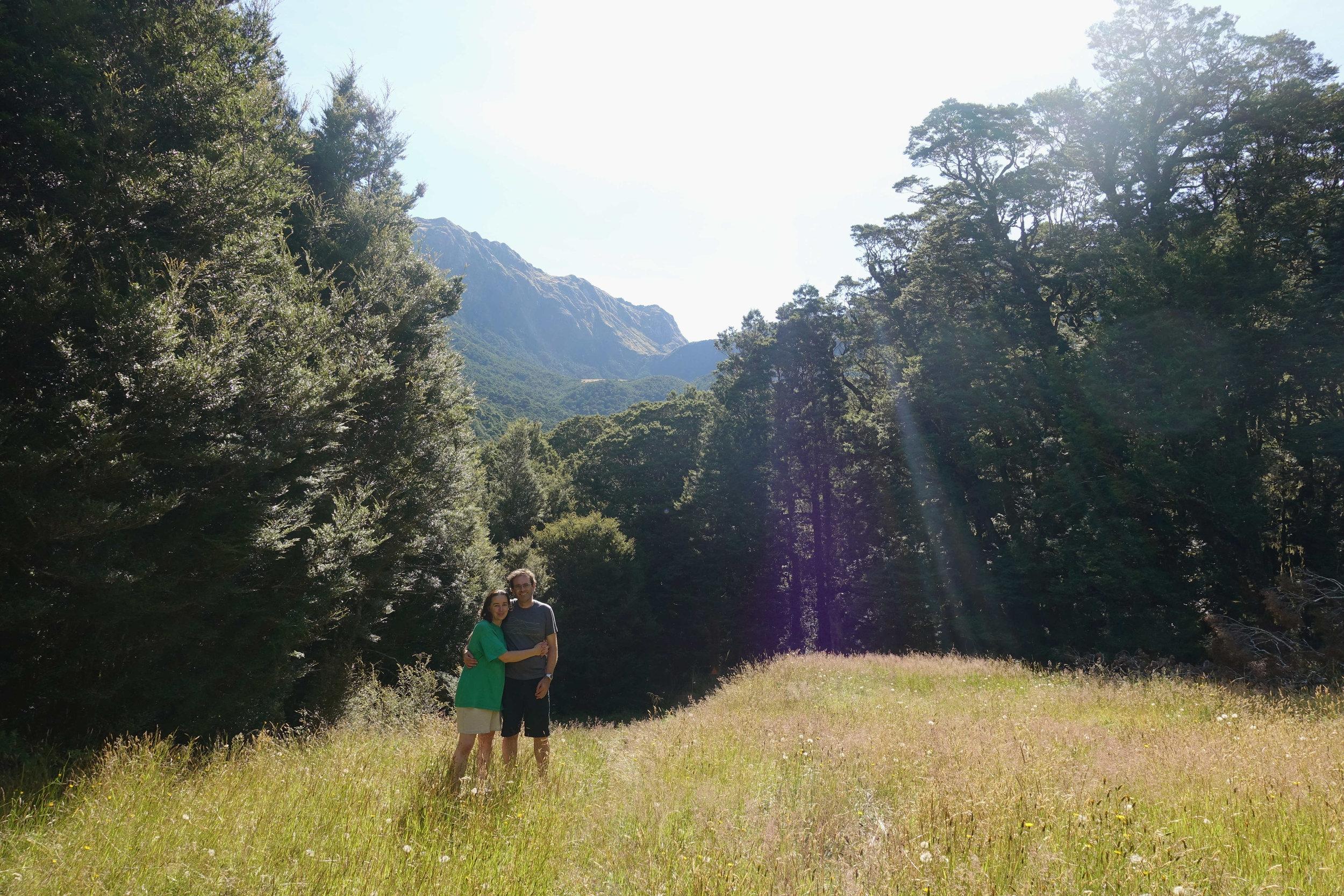 The view up towards the Lower Wanganui Saddle, tomorrow walk.