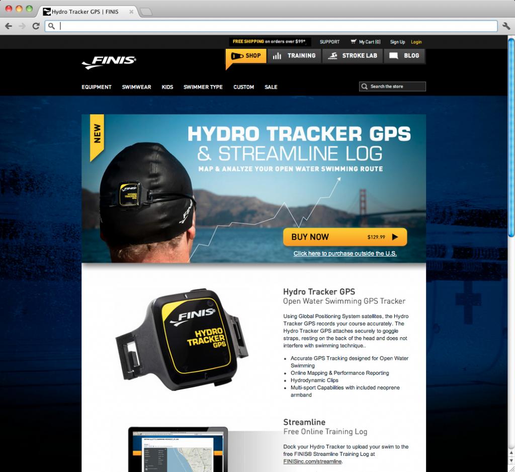 Hydrotracker Landing Page