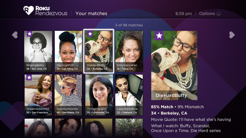 UI – Your matches