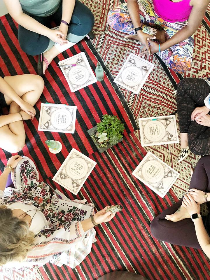 Intro to Astrology Workshop at our 2018 Marfa Retreat. Photo by Amy Johnson