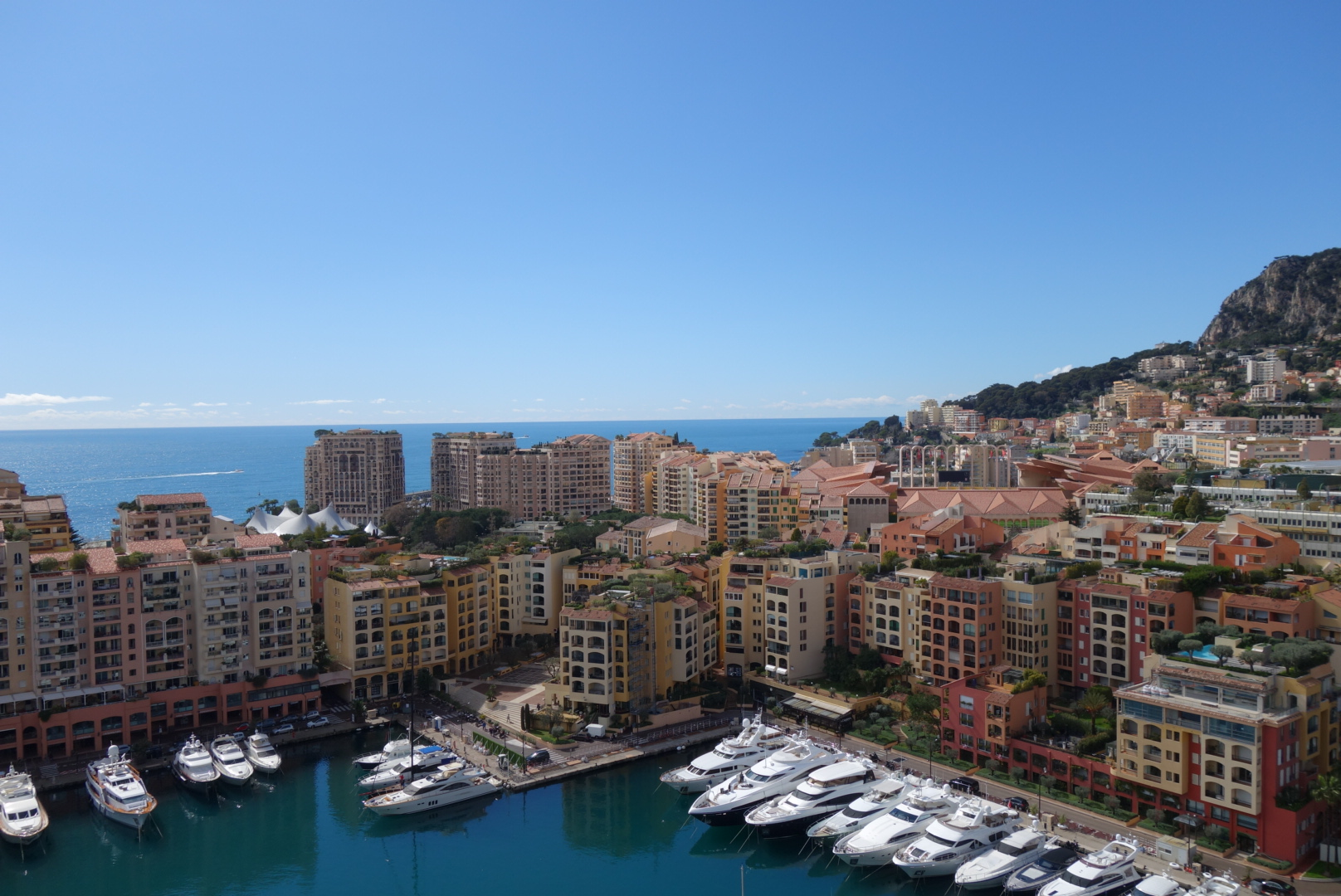 Monaco is beautiful and looks like a postcard when the sun is out. It's no wonder why all the rich and famous come here. Plenty of space for their yachts too!