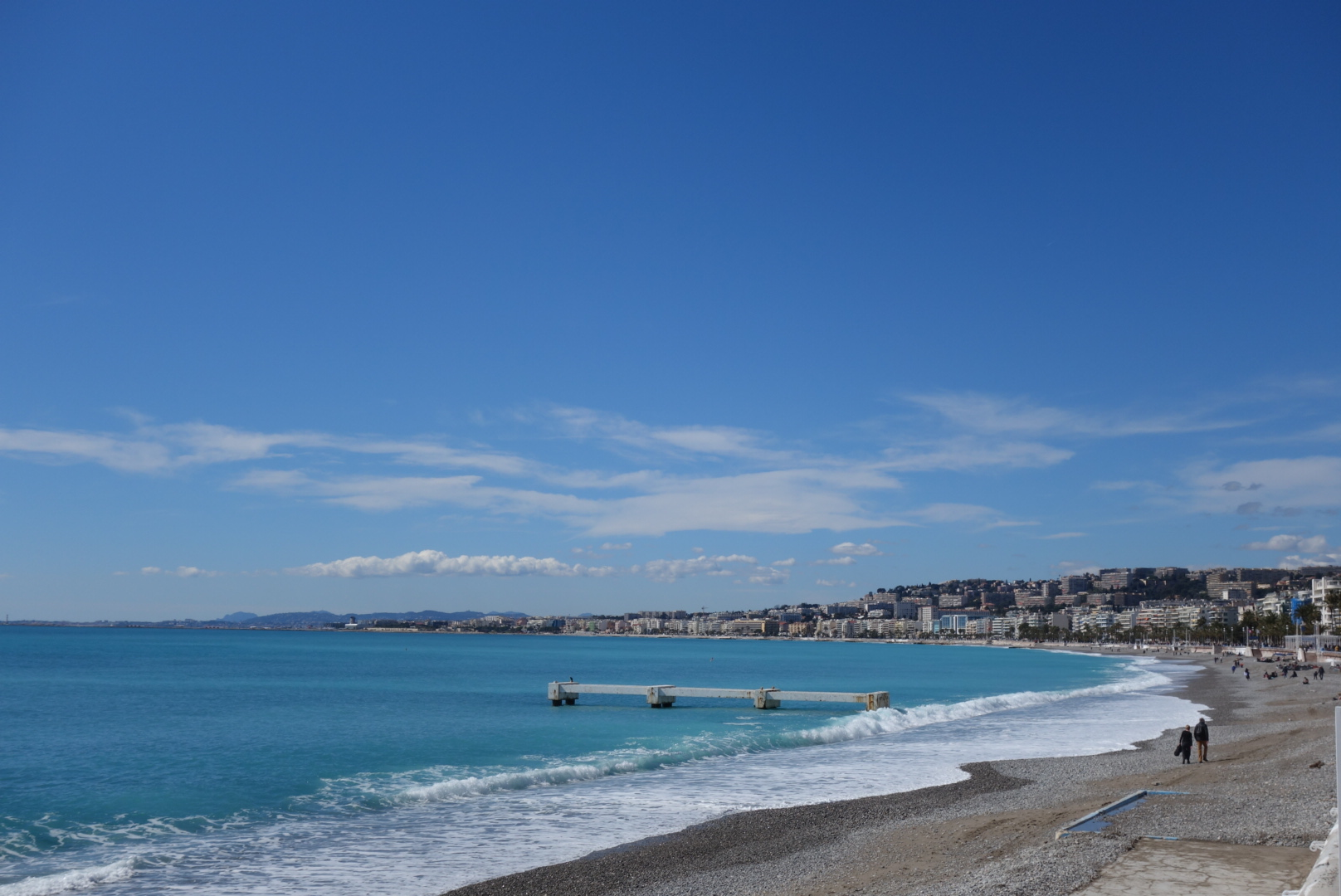 The sun decided to come out on our last day in Nice and we got to see it live up to its name, the Cote d'Azur