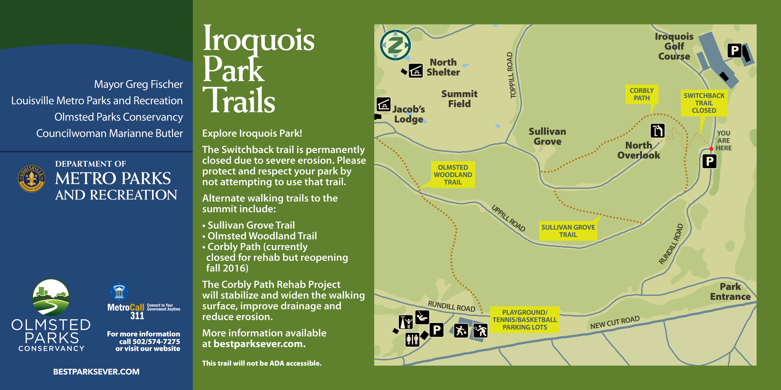 Iroquois Park Trail Map