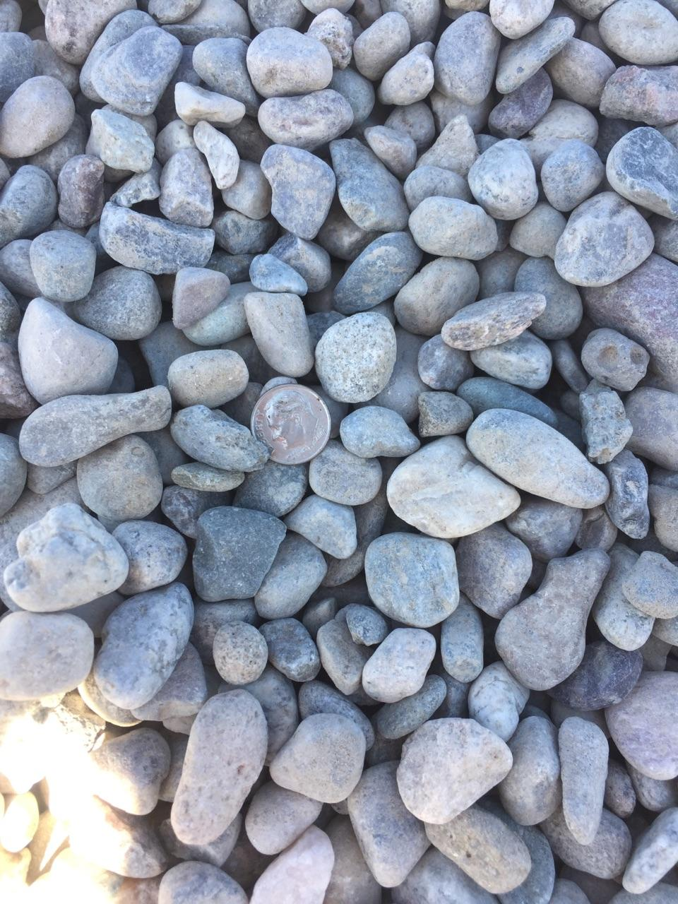 """3/4"""" Round  Round rock used for drainage backfill, mixing concrete and landscaping"""