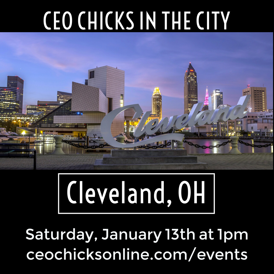 CEO Chicks are coming to a City near you!! As a global network we are always excited when opportunities to come to new cities presents itself! We will be hosting a mixer in Cleveland area   on January 13th at 1pm.      **This event is open to non members!    Joining us will be CEO Chick  Regional Director Coach Jennifer Enders , Cleveland Host and Event Coordinator  CEO Chick Jasmine Villanueva  and you! We are ready to connect with more ladies in this amazing city! Join us! Ticket covers appetizers for our group, meals and beverages are on you! Bring your business cards and come ready to network.    Space is limited.