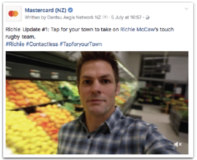 Richie McCaw's selfie posts videos kept towns updated.