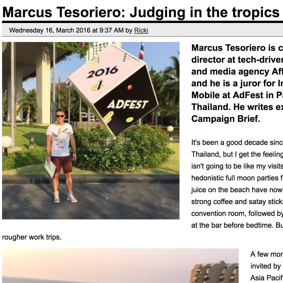 CAMPAIGN BRIEF  Judging In The Tropics